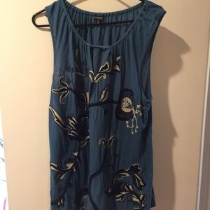 Lucky Brand Embroidered Tunic Tank size 2X
